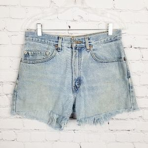 Vintage Levi's|505 Hi-rise Cutoff LightWash Shorts